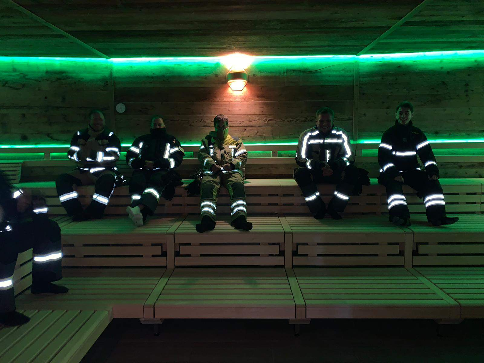 Wärmetest in der Sauna des Aquatoll bei 80 °C