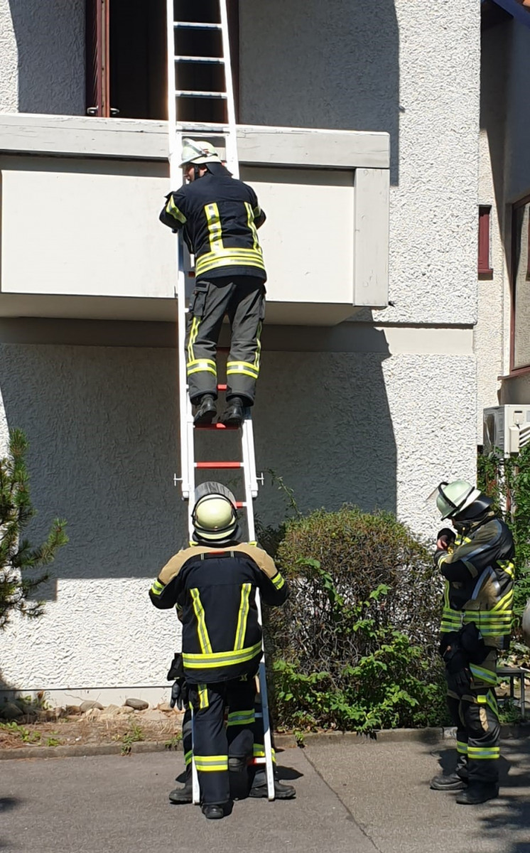 Testparcours im Feuerwehrhaus Neckarsulm